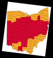 Ohio Radon Counties